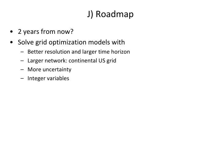 J) Roadmap