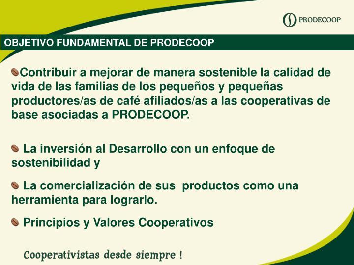 OBJETIVO FUNDAMENTAL DE PRODECOOP