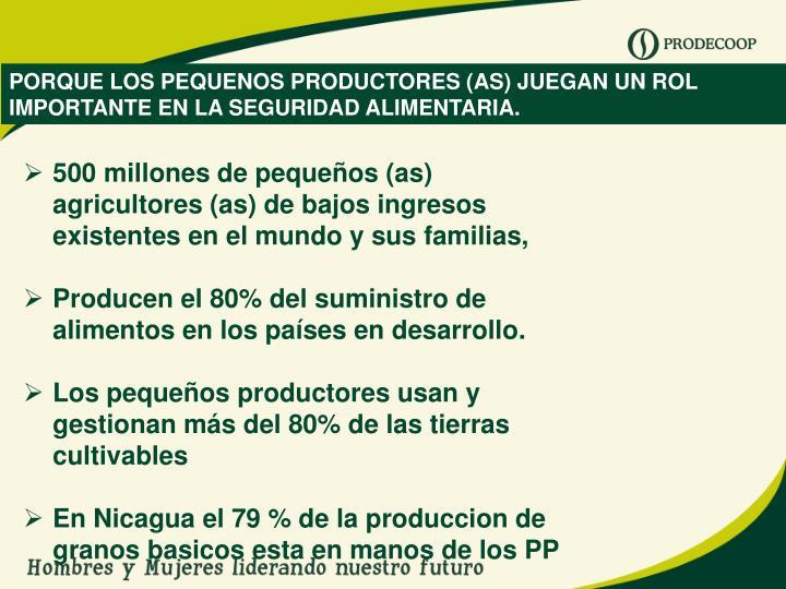 PORQUE LOS PEQUENOS PRODUCTORES (AS) JUEGAN UN ROL IMPORTANTE EN LA SEGURIDAD ALIMENTARIA.
