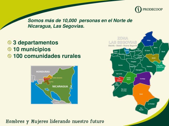 Somos más de 10,000  personas en el Norte de Nicaragua, Las