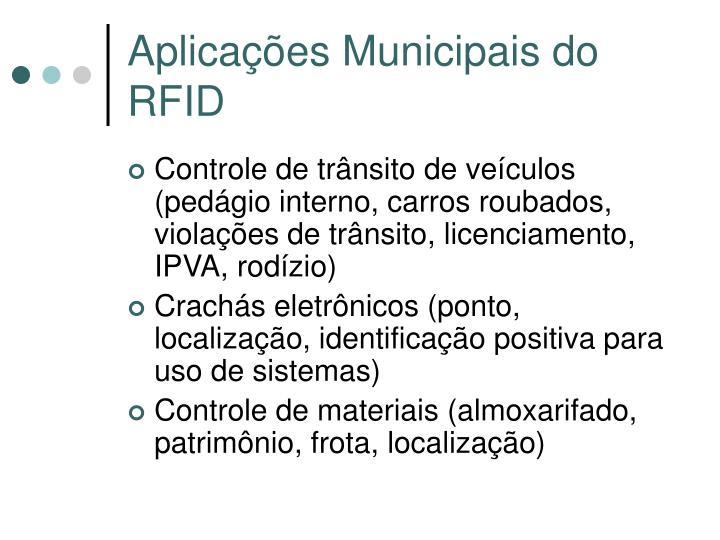 Aplicações Municipais do RFID