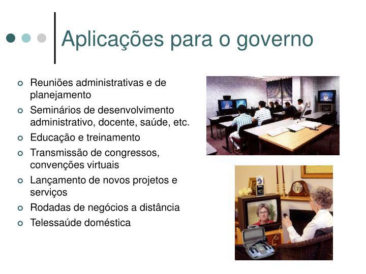 Aplicações para o governo