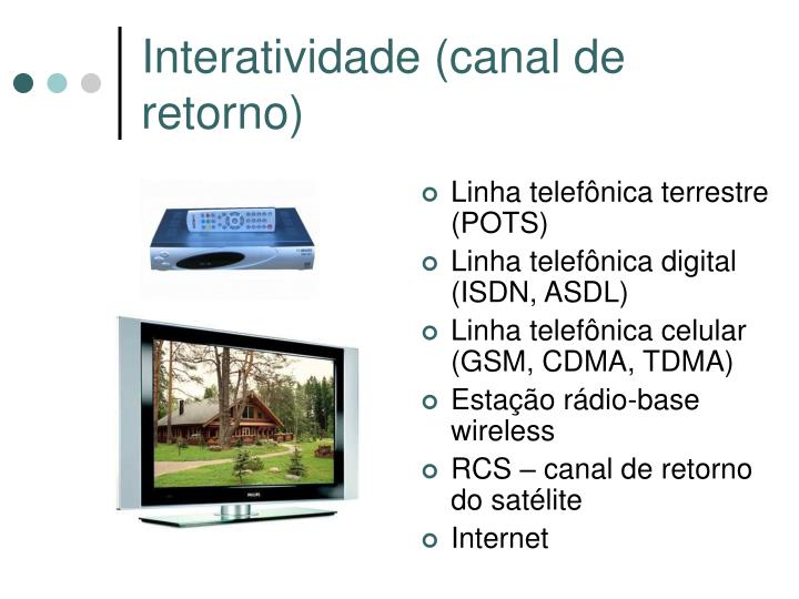 Interatividade (canal de retorno)