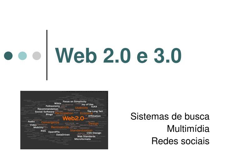 Web 2.0 e 3.0