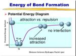 energy of bond formation1