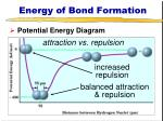 energy of bond formation2
