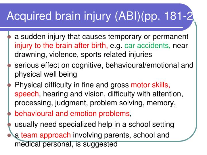 teaching strategies for students with physical and health impairments and traumatic brain injury Cognitive impairment and rehabilitation strategies after traumatic brain injury apurba barman , ahana chatterjee , 1 and rohit bhide 2 department of physical medicine and rehabilitation, all india institute of medical sciences, bhubaneswar, odisha, india.