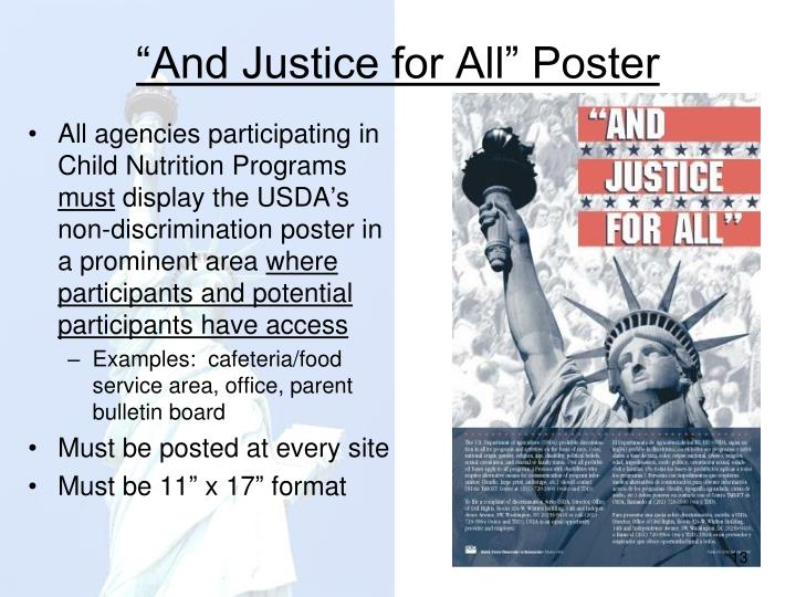"""And Justice for All"" Poster"