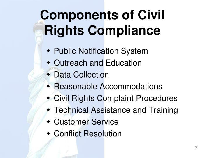 Components of Civil Rights Compliance