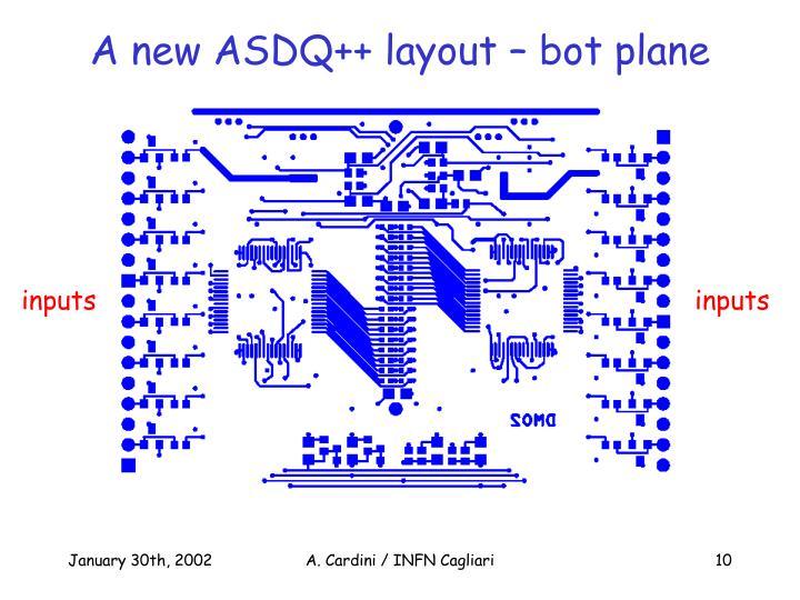 A new ASDQ++ layout – bot plane