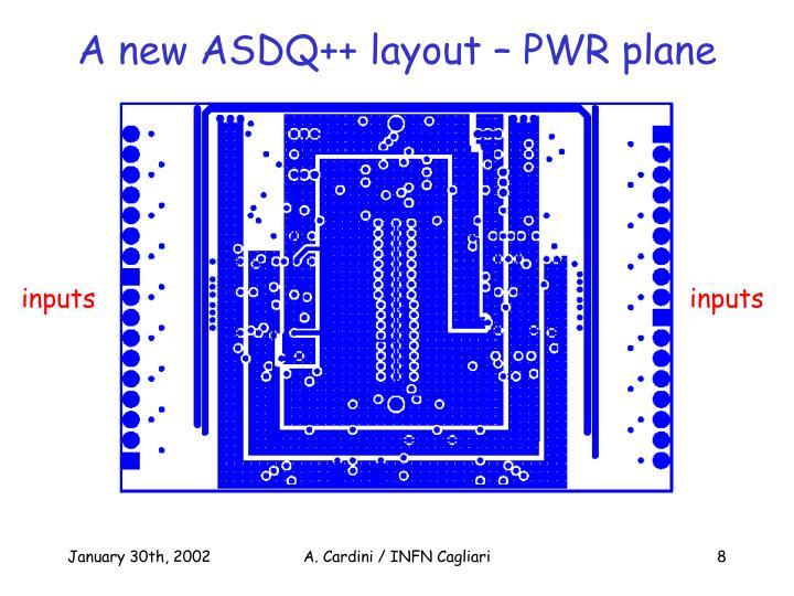 A new ASDQ++ layout – PWR plane