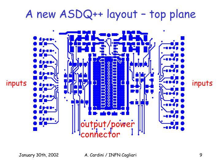 A new ASDQ++ layout – top plane