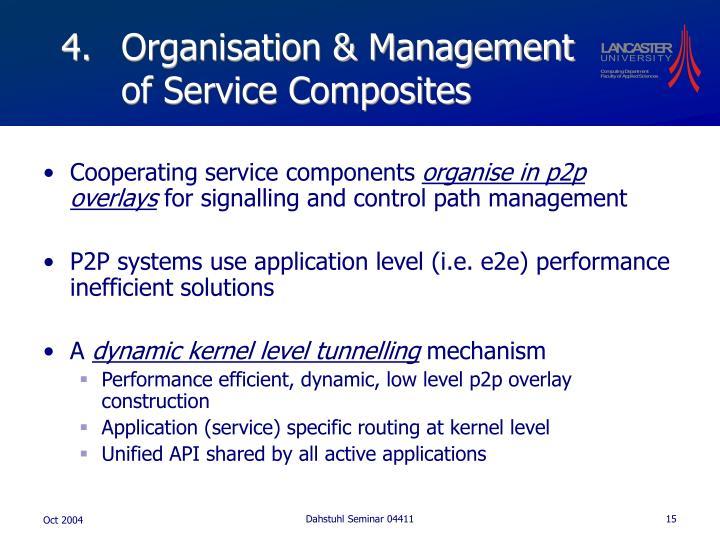 Organisation & Management of Service Composites