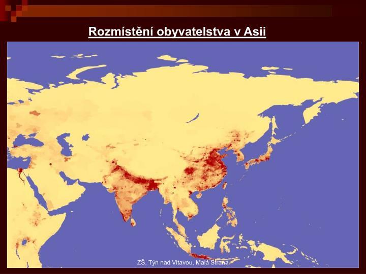 Rozmístění obyvatelstva v Asii