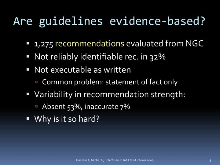 Are guidelines evidence-based?