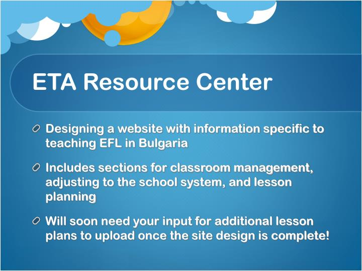 ETA Resource Center