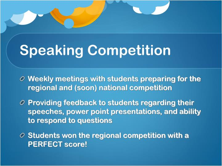 Speaking Competition