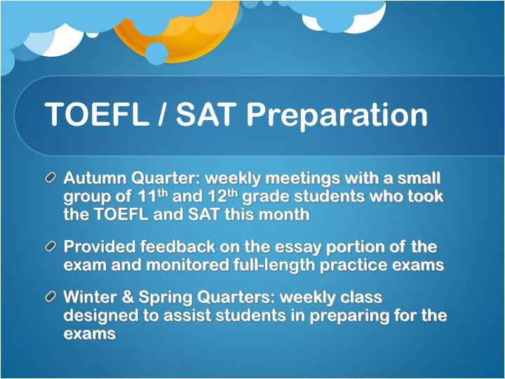 TOEFL / SAT Preparation