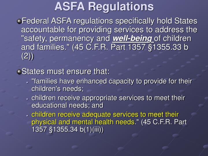 ASFA Regulations