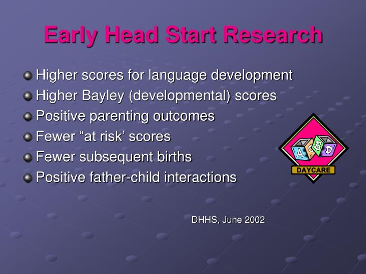 Early Head Start Research