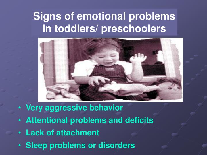 Signs of emotional problems