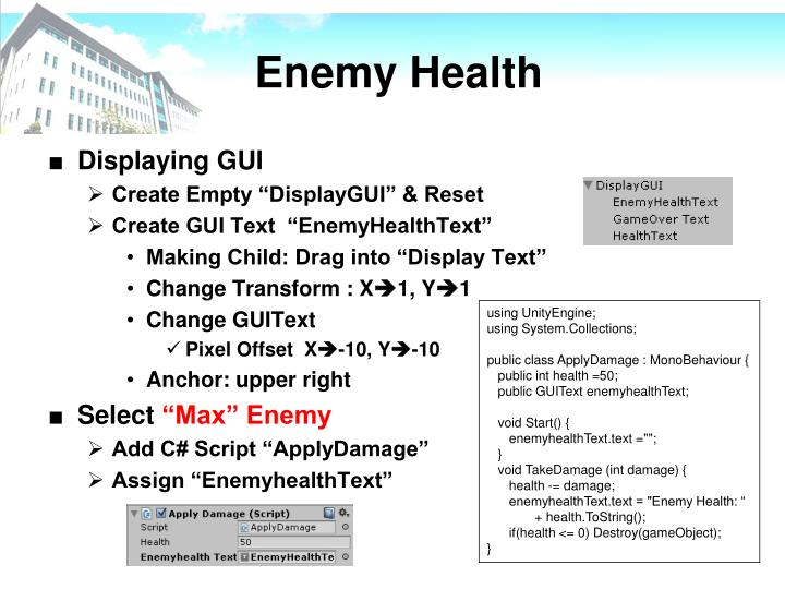 Enemy Health