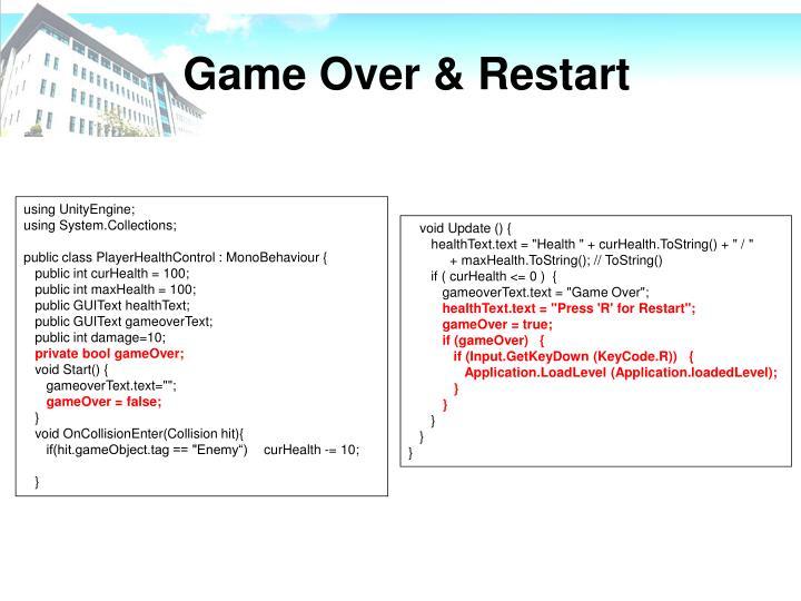 Game Over & Restart