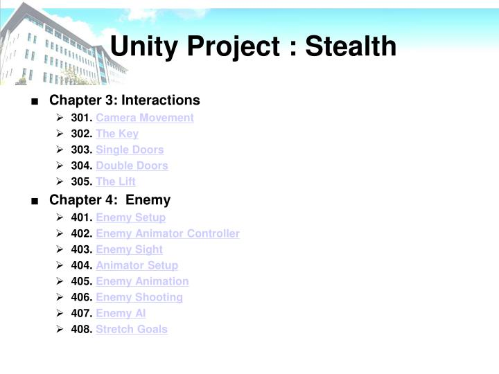 Unity Project : Stealth