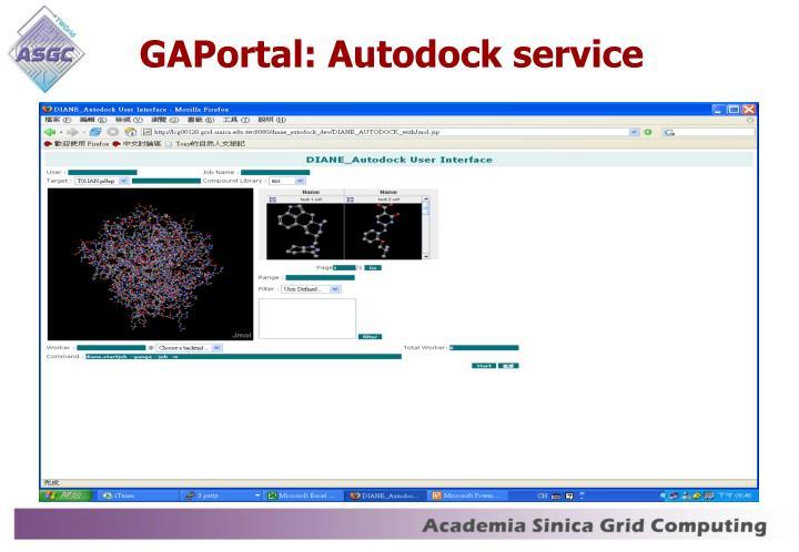 GAPortal: Autodock service