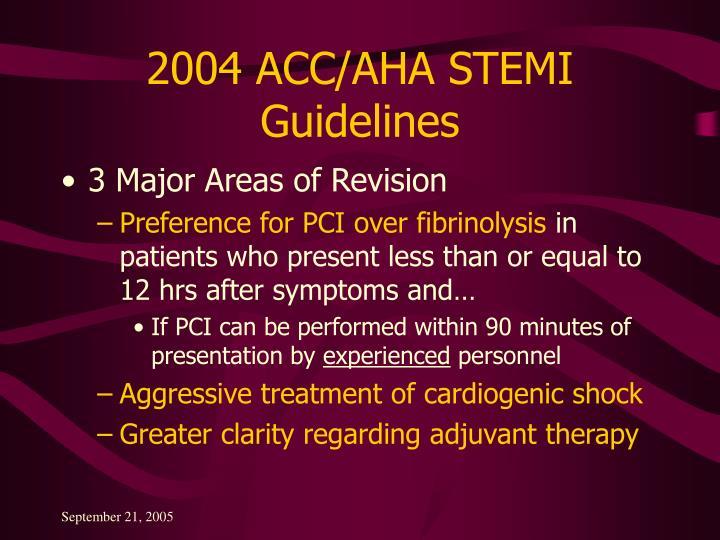2004 ACC/AHA STEMI Guidelines