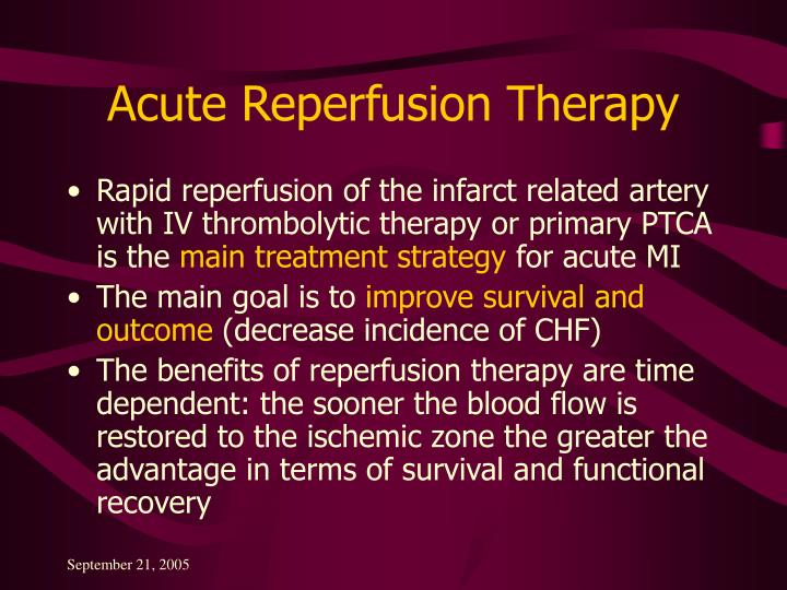 Acute Reperfusion Therapy