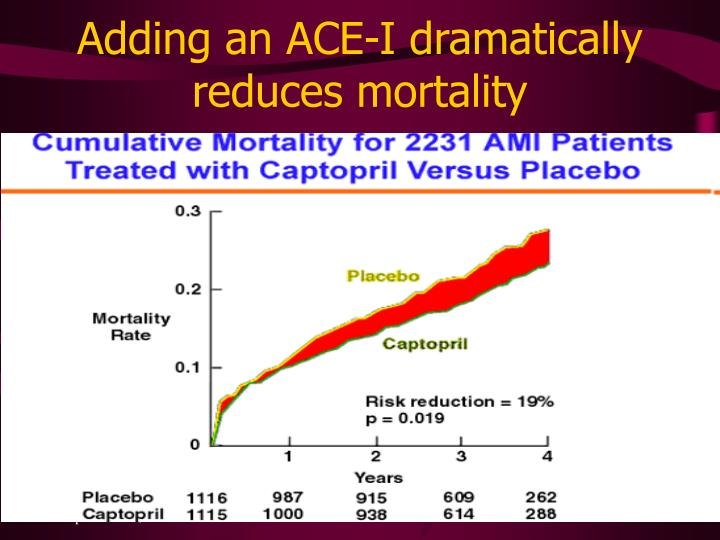 Adding an ACE-I dramatically reduces mortality