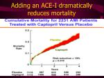 adding an ace i dramatically reduces mortality