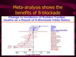 meta analysis shows the benefits of blockade