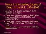 trends in the leading causes of death in the u s 1970 2002