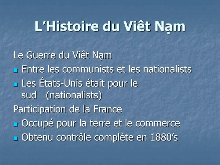 L'Histoire du Viêt Nạm