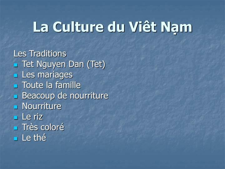 La Culture du Viêt Nạm