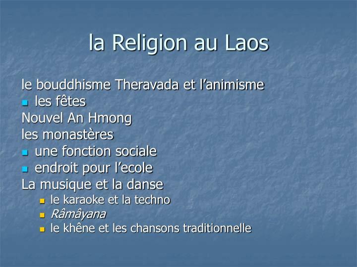 la Religion au Laos