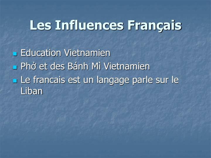 Les Influences Français