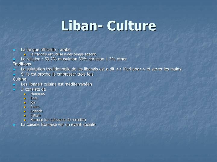 Liban- Culture