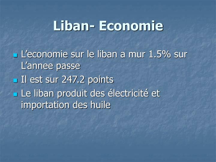 Liban- Economie