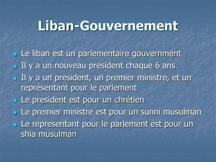 Liban-Gouvernement