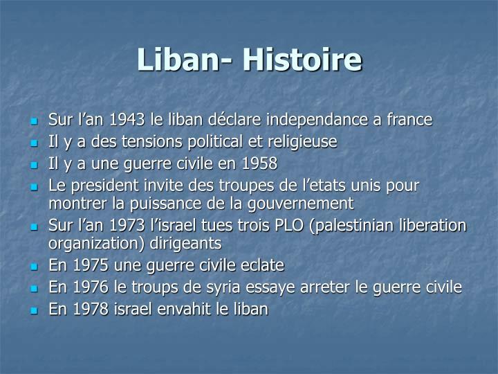 Liban- Histoire