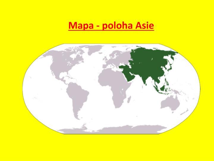 Mapa - poloha Asie