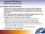 current cmi issues 2008 fda evaluation con t