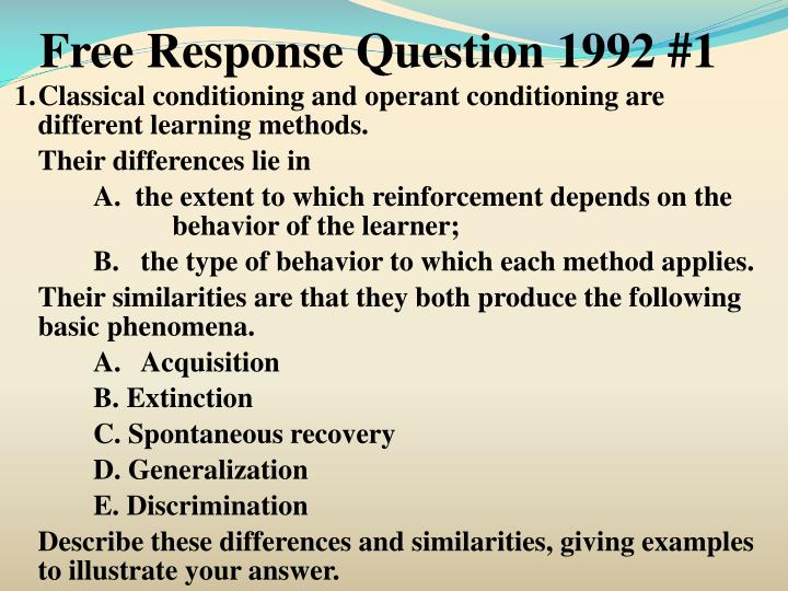 Free Response Question 1992 #1