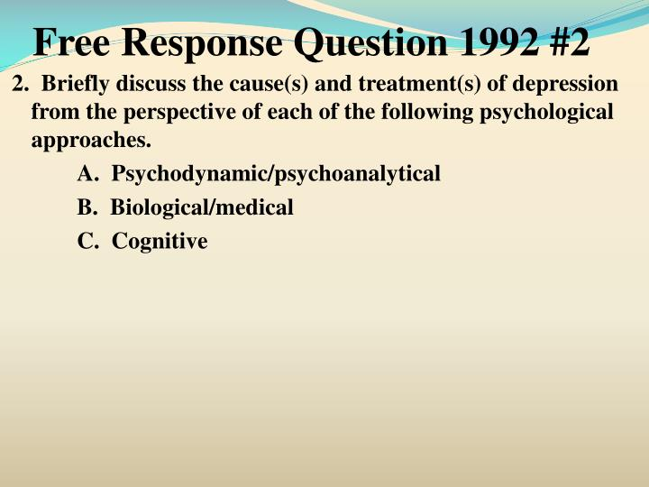 Free Response Question 1992 #2