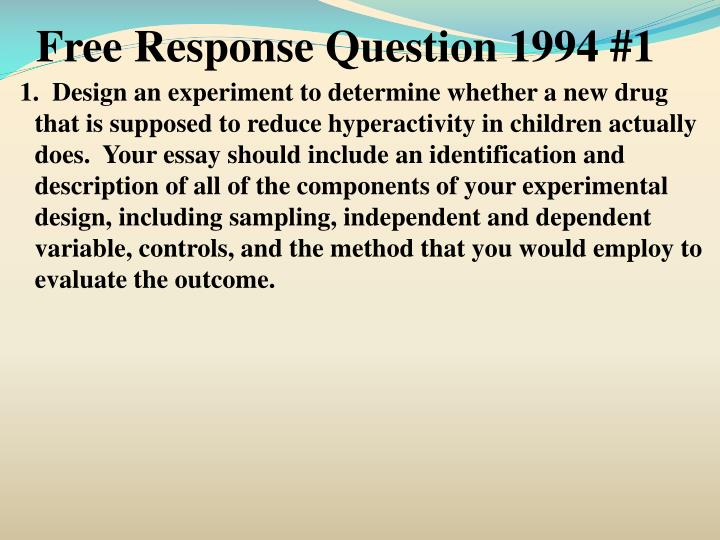 Free Response Question 1994 #1