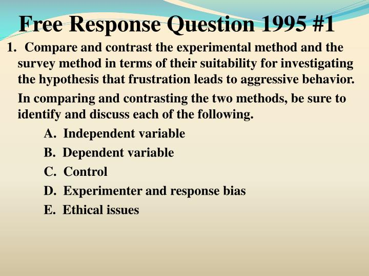 Free Response Question 1995 #1