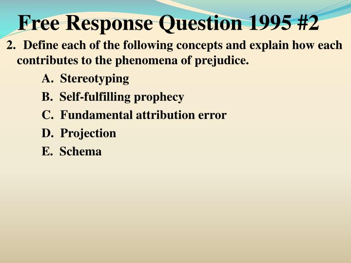 Free Response Question 1995 #2